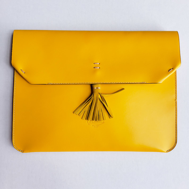 Boldrini Envelope<br /> Leather Clutch<br /> Retail $255