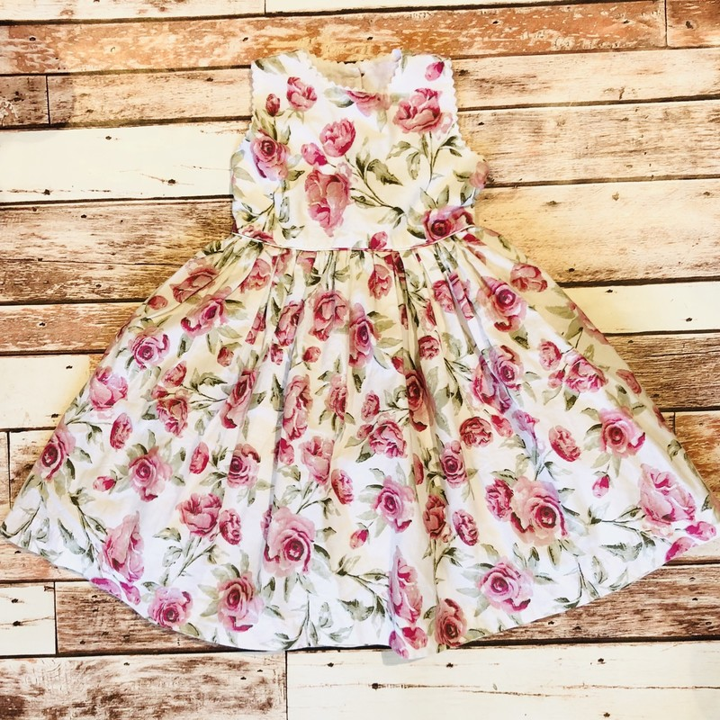 Charabia Rose Dress, Wht/pnk, Size: 18mo