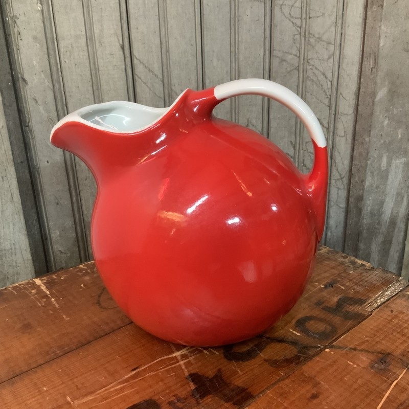 "Lovely Halls ceramic red and white 7"" tall jug.<br /> <br /> Condition: Excellent"