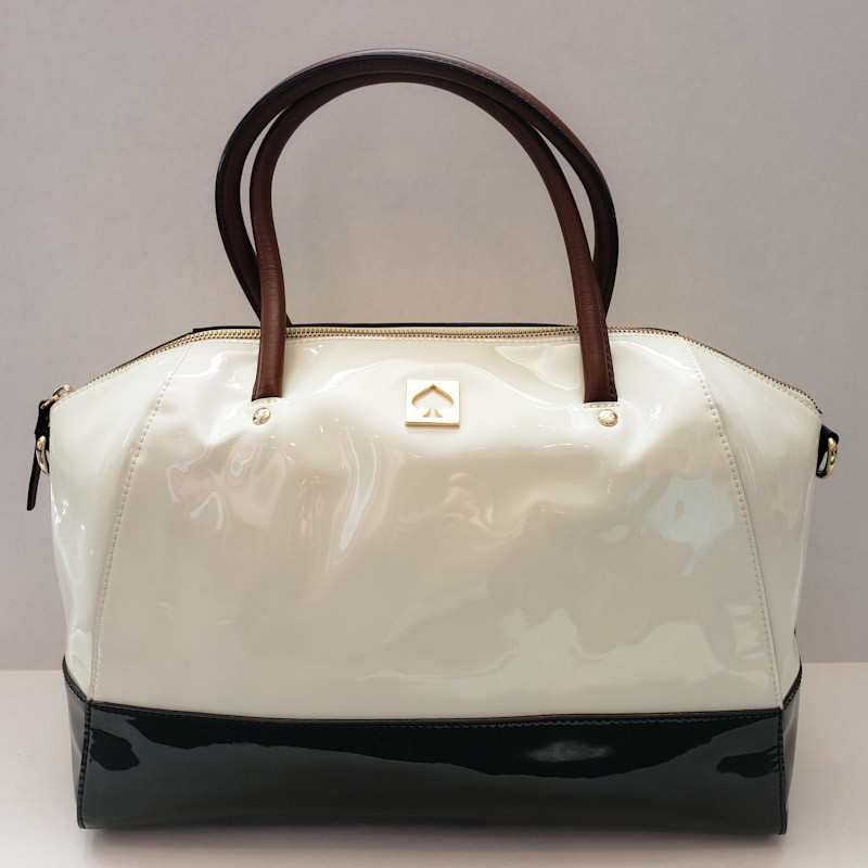 Kate Spade<br /> Black & White Patent<br /> Large Tote<br /> Comes with Dust Bag!