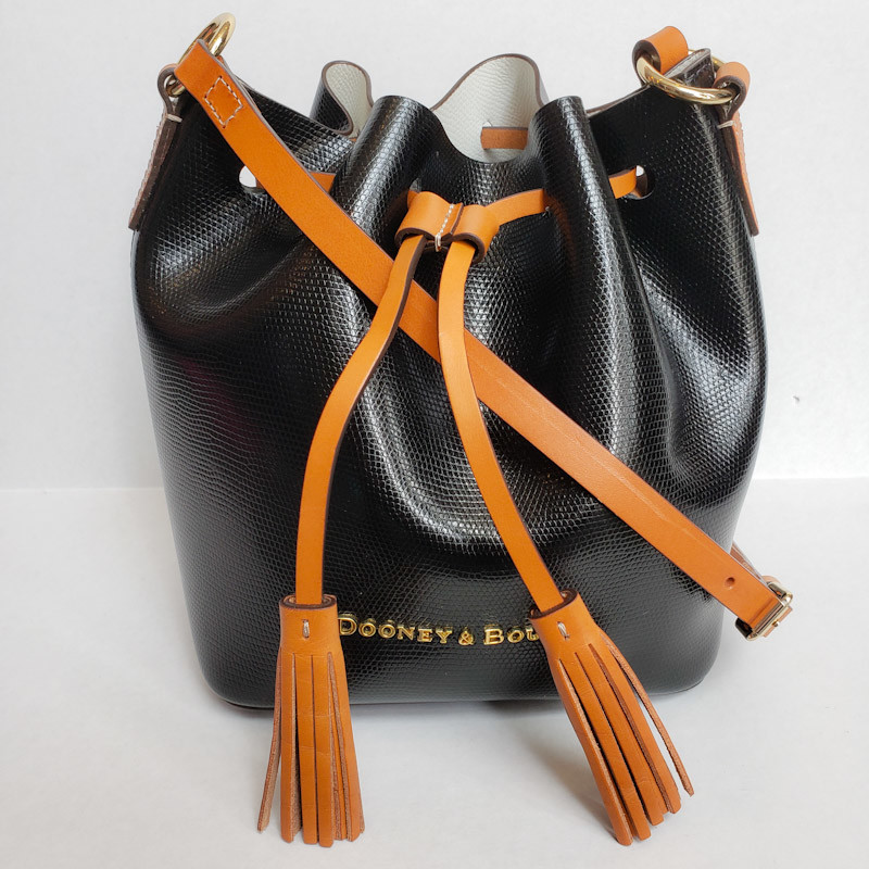 Dooney & Bourke<br /> Black Leather<br /> W/ Inside Pouch<br /> Bucket Bag