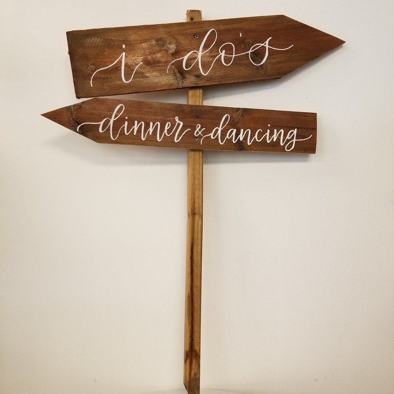 Directions Sign, Wood, Size: 27x36