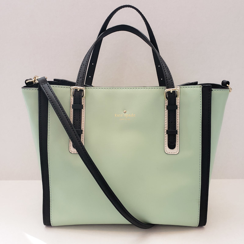 Kate Spade<br /> Mint w/Black Trim<br /> Leather Tote