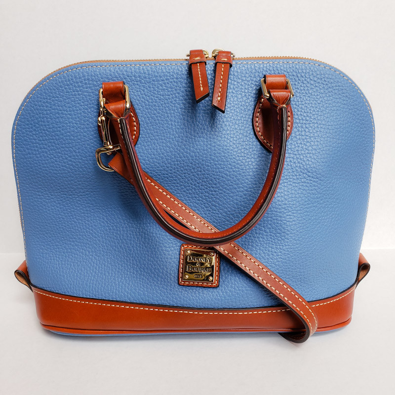 Dooney & Bourke<br /> Light Blue & Tan<br /> Leather Satchel