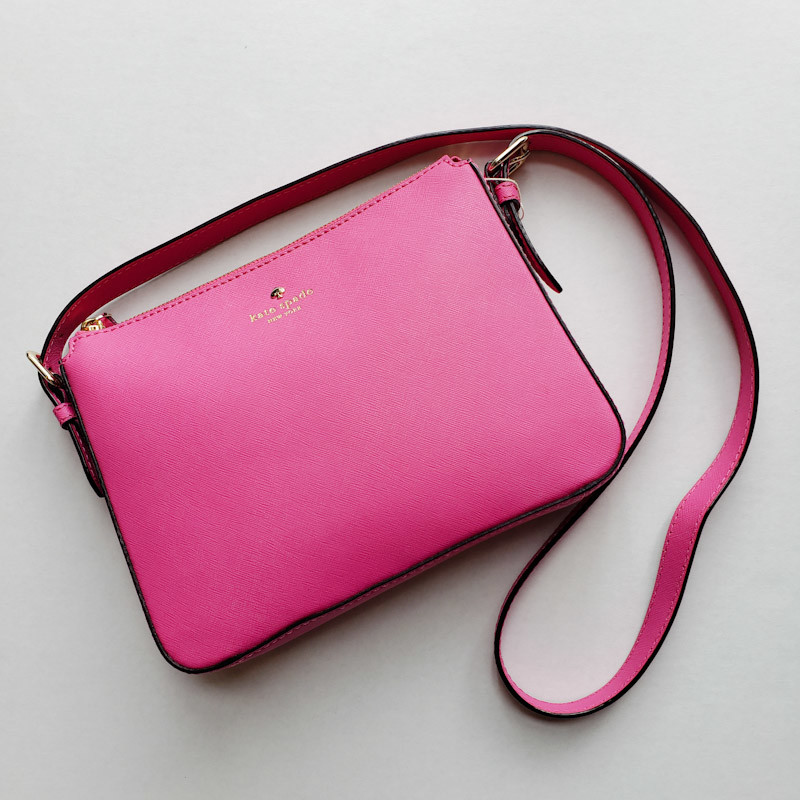 Kate Spade<br /> Pink Leather<br /> Crossbody<br /> NEW!
