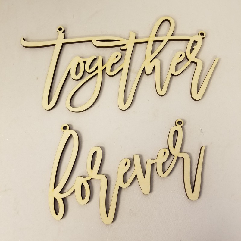 """Together Forever"" Chair Signs, Tan, Size: 2 Pc"