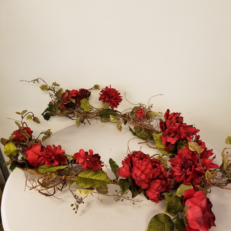 Peony/Rose/Dahlia Garland, Red, Size: 6' Long<br /> 8 More Available In Store