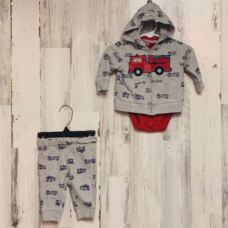 Carters 3 PC, Firetruc, Size: 3 Mo
