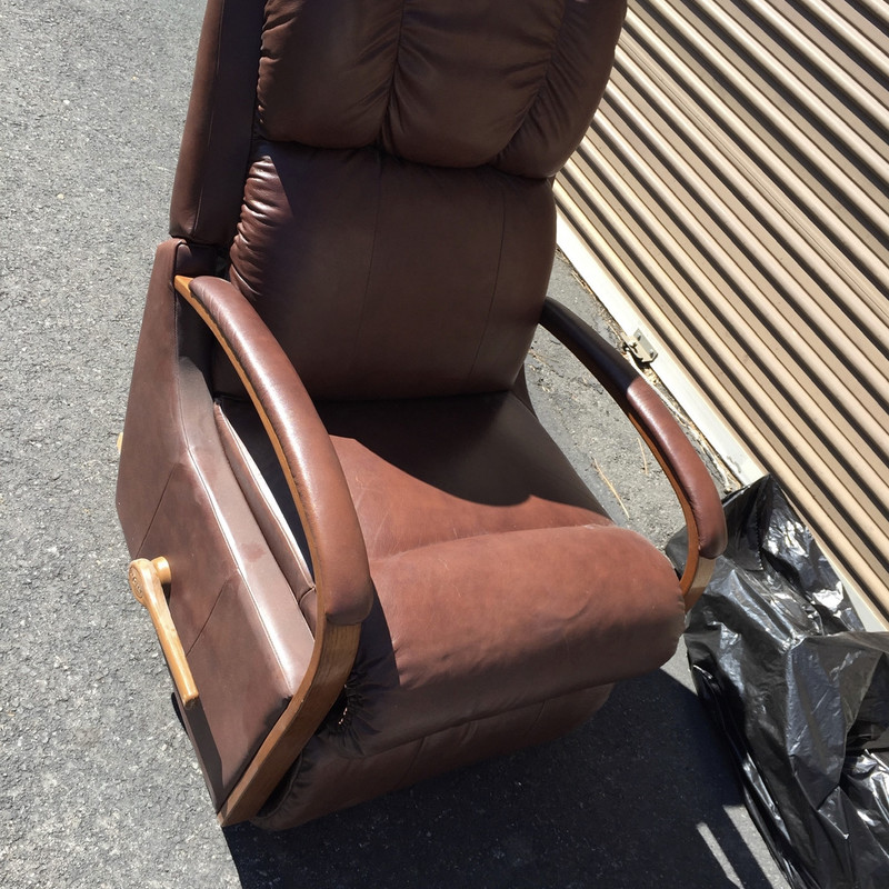 "Brown La-Z-Boy Leather Recliners. Great Condition. , Size: 37""D  x 41""H x 30""W.<br /> <br /> Plush and Super Comfortable."