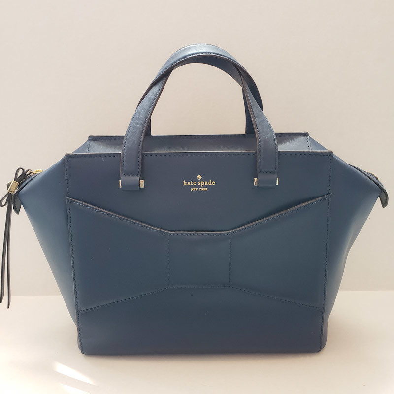 Kate Spade<br /> Navy<br /> Leather Tote<br /> Comes with Dust Bag!