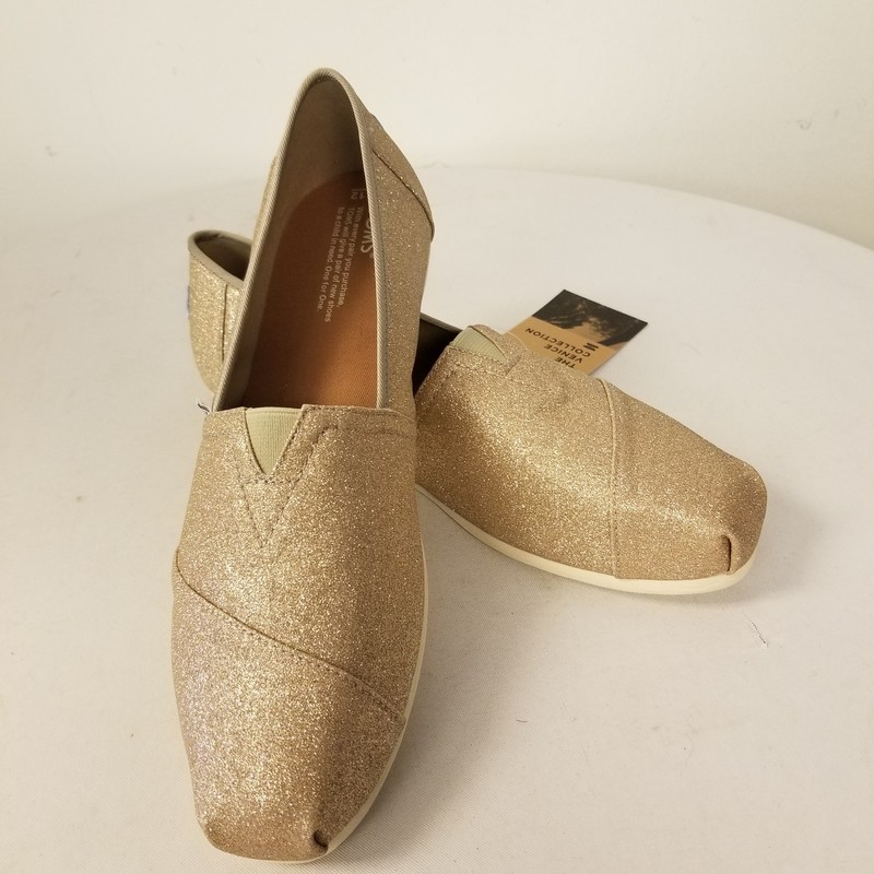 Glitter Toms, Rose Gold, Size: 12<br /> New