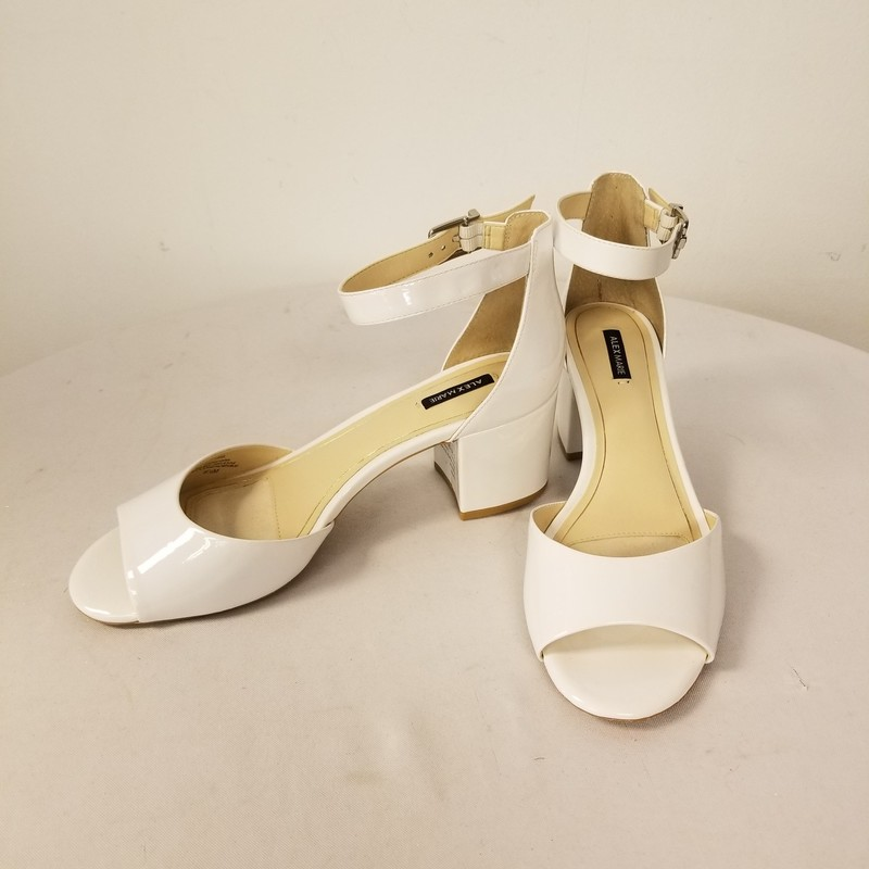 Alex Marie Shoes, White, Size: 9.5<br /> New