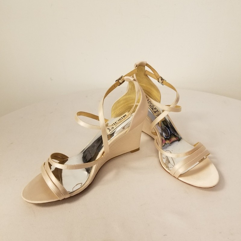 Badgley Mischka Wedges, Light Pink, Size: 6.5<br /> New