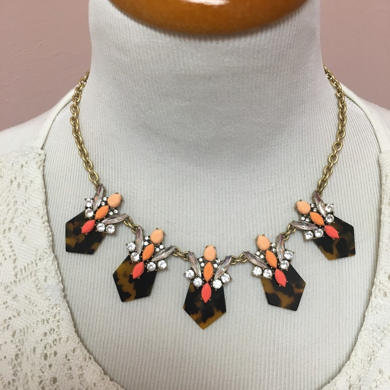 J Crew Statement Necklace, Animal, Size: OS