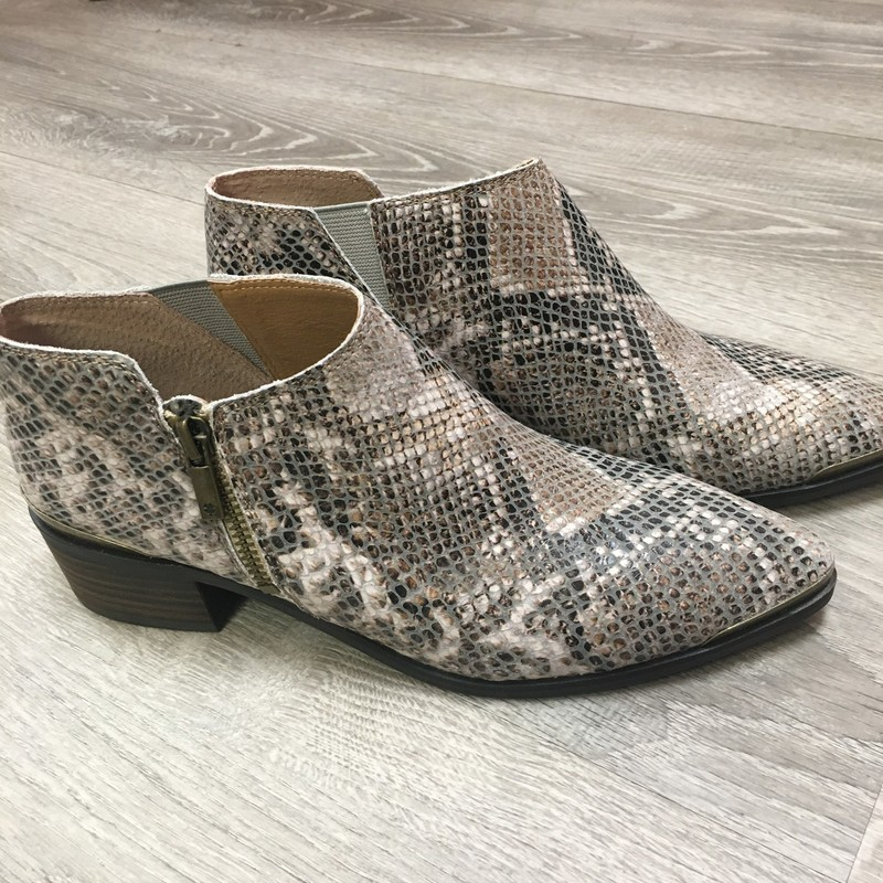 Lucky Brand Booties, Snakeski, Size: 7.5 NEW without box