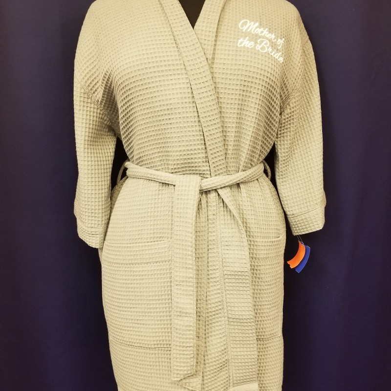 Mother of the Bride Robe, Gray, Size: One Size