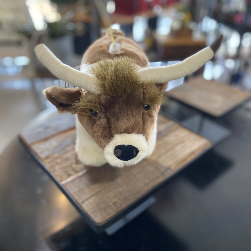 Longhorn coin bank soft and cuddly.