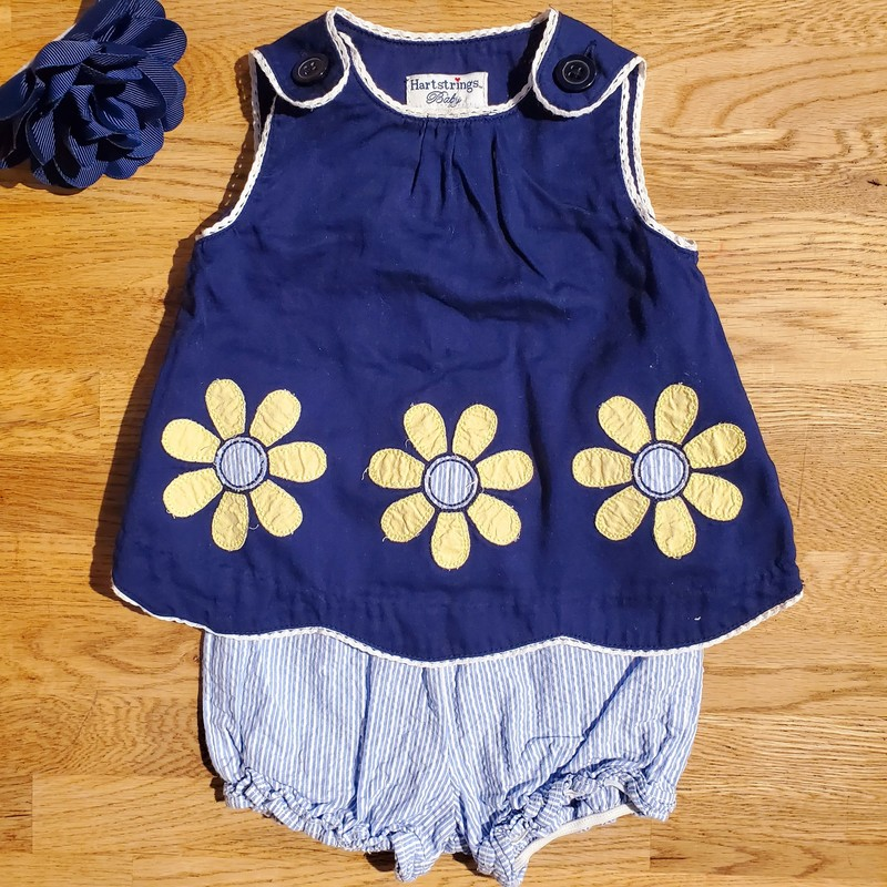 Hartstrings 2pc Dress, NvyDaisy, Size: 3-6mo