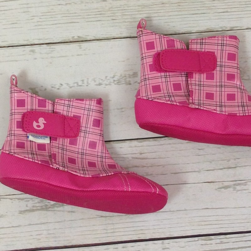 Leather Pink Pttrn Velcro.