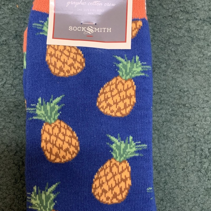 Pineapples!<br /> Color: Royal print w/ orange trim