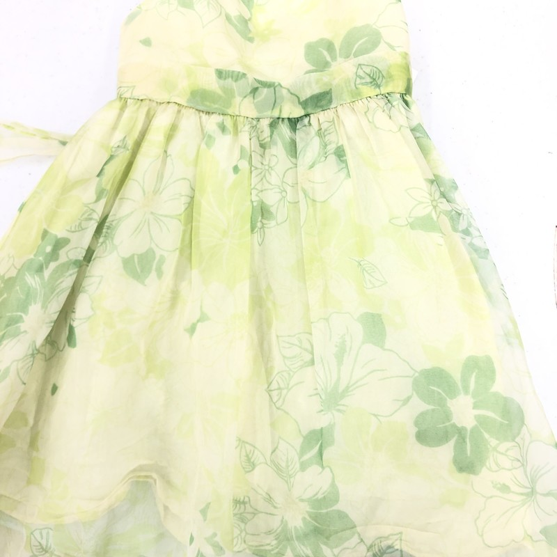 Sweet Kids Floral Dress, Yellow, Size: 4T Girl