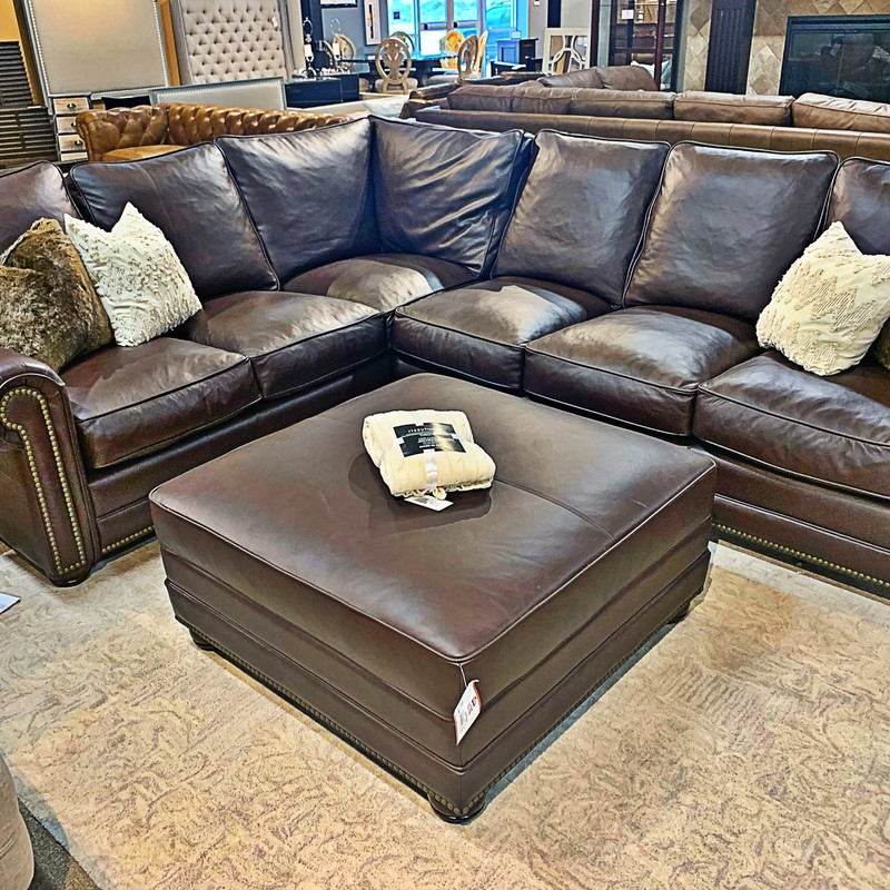 Sectional W/ Ottoman, K5/OL, Size: SKHH<br /> #Omnia #Leather #Sectional #Ottoman #Down #omnia #New