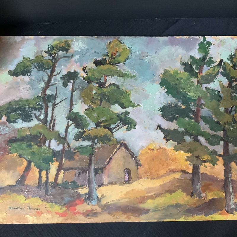 "Oil Painting Signed D. Persons<br /> Painted on chipboard<br /> 24"" x 16"""