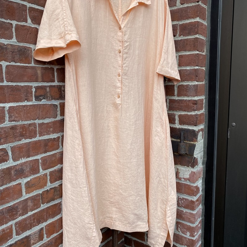 Oska Linen Dress NWT $419, Peach, Size: M/L<br /> Brand new with tags. Oska size 2 which is their med/large.Has pockets. High end made in Czeck Republic.