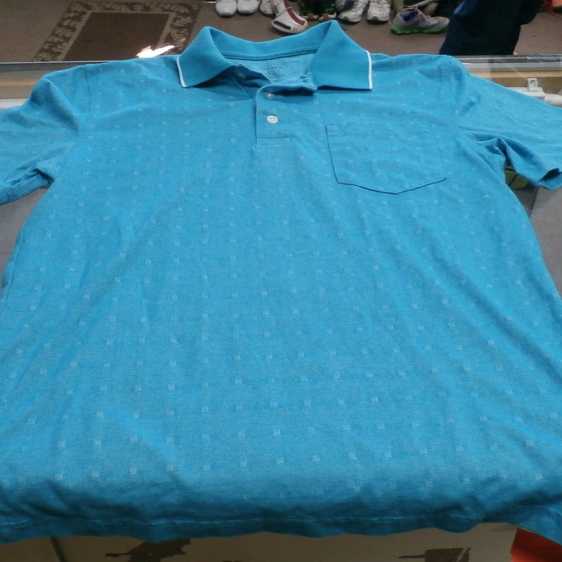 "George Men's Short Sleeve Polo Shirt Size Small Blue Cotton Blend #14623<br /> Rating:   (see below) 3 - Good Condition <br /> Team: n/a<br /> Player: n/a<br /> Brand: George<br /> Size: Small - Men's(Measured Flat: Across chest 22"", length 32"")<br /> Measured flat: armpit to armpit; top of shoulder to the hem<br /> Color: Blue<br /> Style: polo shirt <br /> Material: 67 Cotton 33 Polyester<br /> Condition: - Good Condition - wrinkled; material looks and feels good; pilling and fuzz are present; no stains rips or holes(PLEASE SEE PHOTOS)<br /> Item #: 14623<br /> Shipping: $3.37"