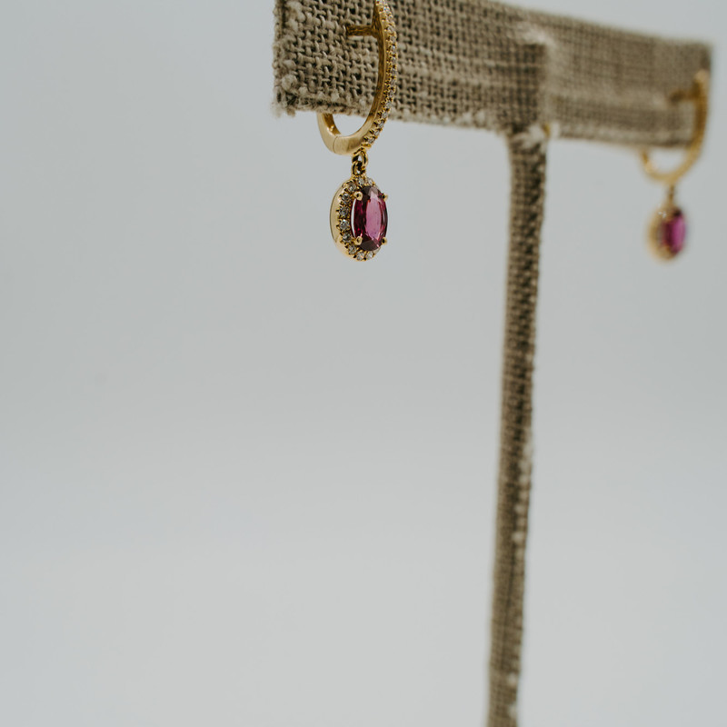 14k yellow gold Ruby 0.94ct dangle Earrings<br /> <br /> #earrings #ruby #set #birthstone #yellowgold #new #jewelry