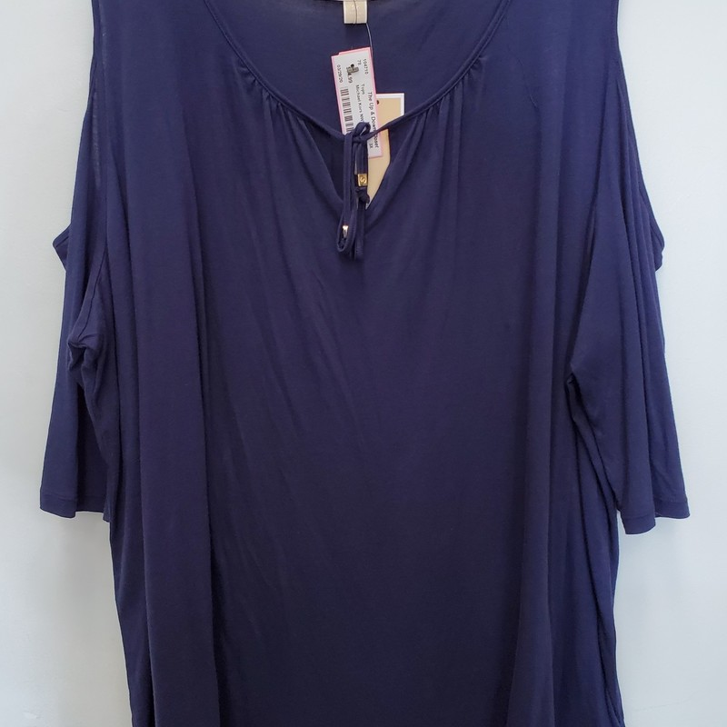 Michael Kors NWT<br /> Navy<br /> Cold shoulder<br /> Retail $110.00