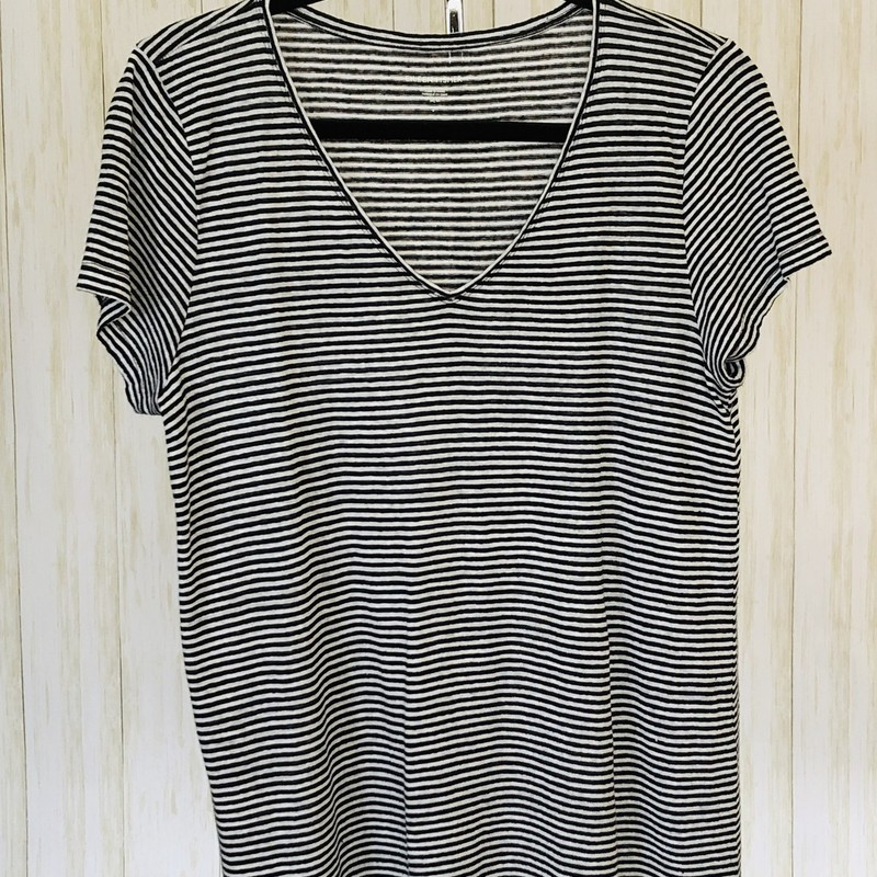 Generously cut V-neck T.  100% organic linen. Light weight and wonderful!  So comfy and luxurious!
