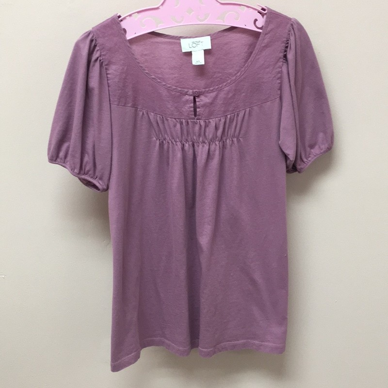 LOFT Top, Purple, Size: XS