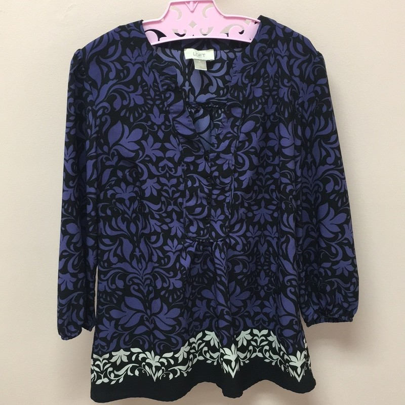 LOFT Blouse, Purple, Size: XS