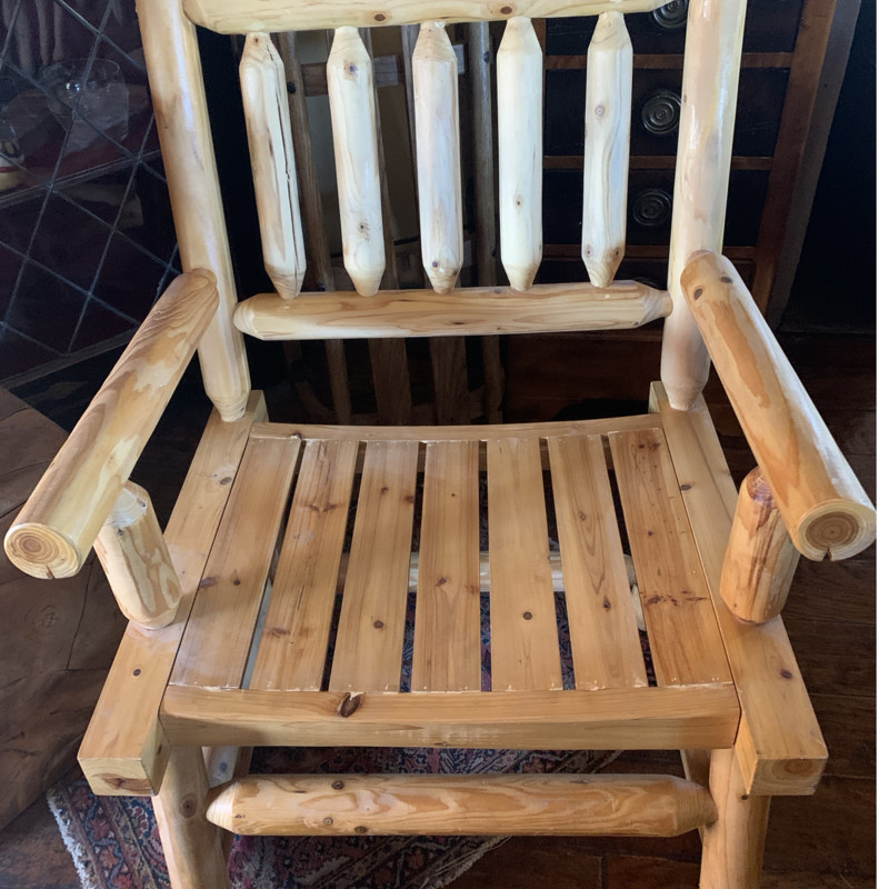 Lodge Pine Rocking Chair, Size: 25Wx25Dx36