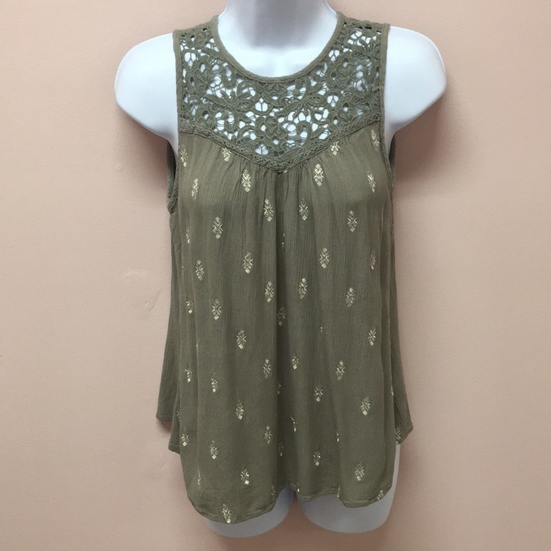 Maurices Tank, Green, Size: Small