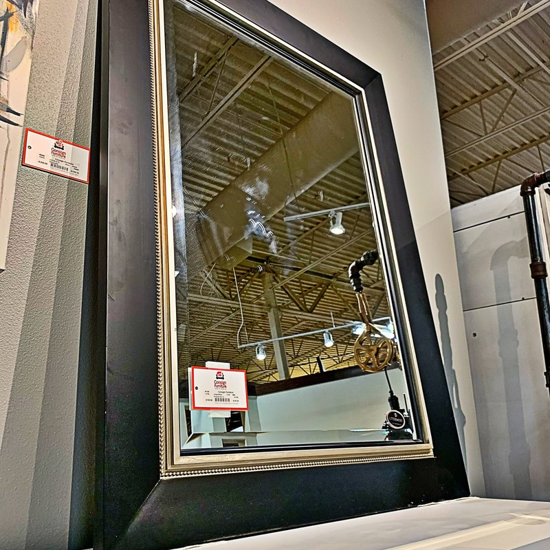 Black Framed Mirror, C/25, Size: BBK<br /> #mirror #decor #home