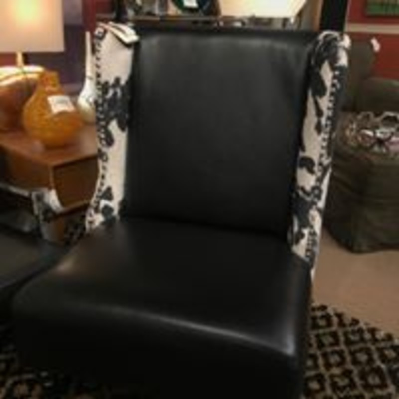 Cowhide Club Chair<br /> Black White Size: 26x25x40H<br /> Cowhide Arms & Back