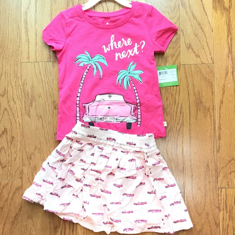Kate Spade 2pc Outfit NEW, Pink, Size: 4<br /> <br /> <br /> new with $64 tag<br /> <br /> <br /> ALL ONLINE SALES ARE FINAL. NO RETURNS OR EXCHANGES. PLEASE ALLOW 1 TO 2 WEEKS TO SHIP.