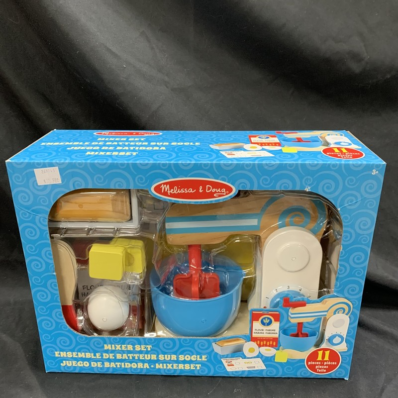 Mixer Set, Wood, Food<br /> Ages 3+<br /> 11 pieces
