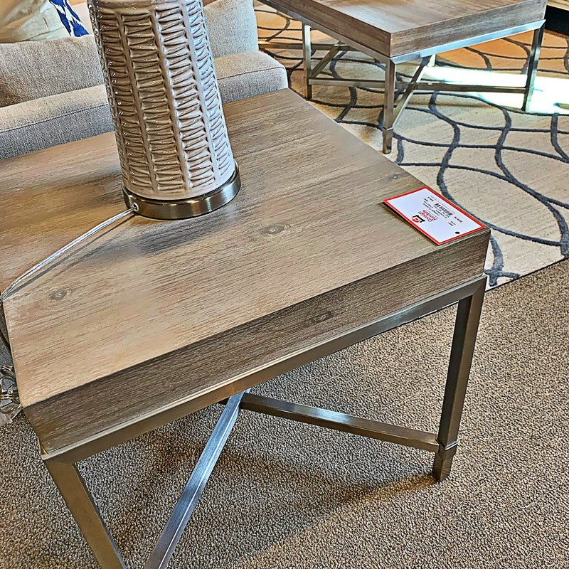 Steel & Wood End Table, 6118, Size: KKH<br /> #end #table #occassional<br /> <br /> in stock and available for pre order!