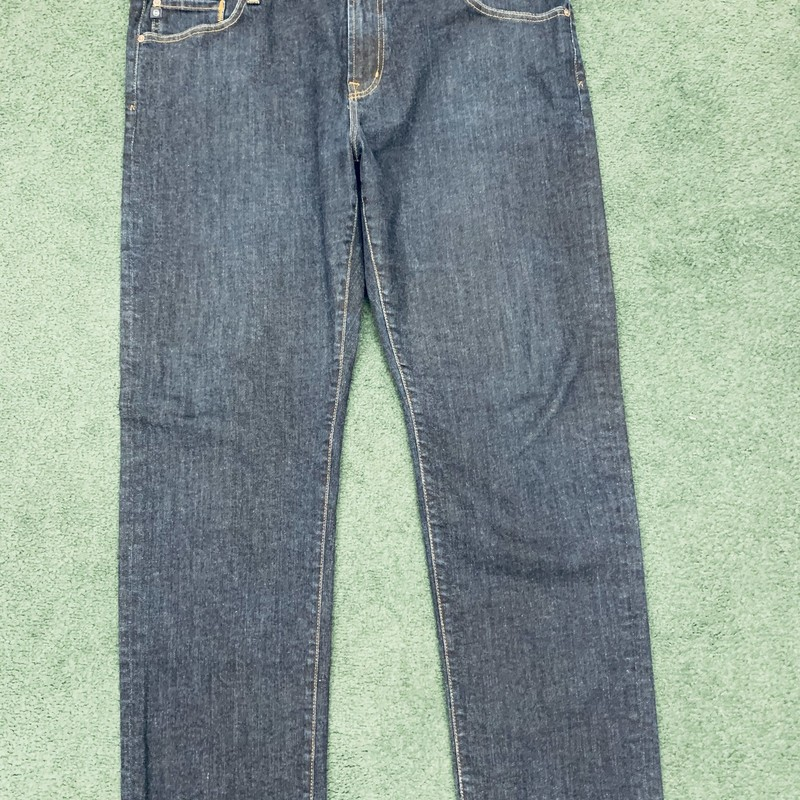 "** Adriano Goldschmied **<br /> Style: The Graduate (Tailored Leg)<br /> Color: Dark wash denim<br /> Size: 40"" W 32"" L<br /> Condition: Excellent"