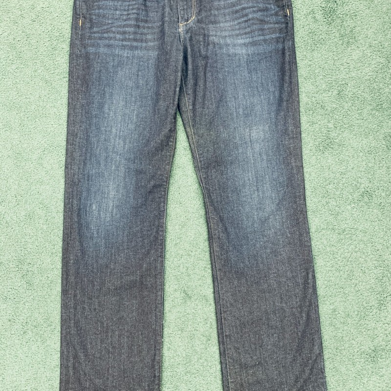 "** Joes Jeans **<br /> Color: Medium wash denim<br /> Size: 37"" W 29"" L<br /> Condition: Very good, some wear on seat"