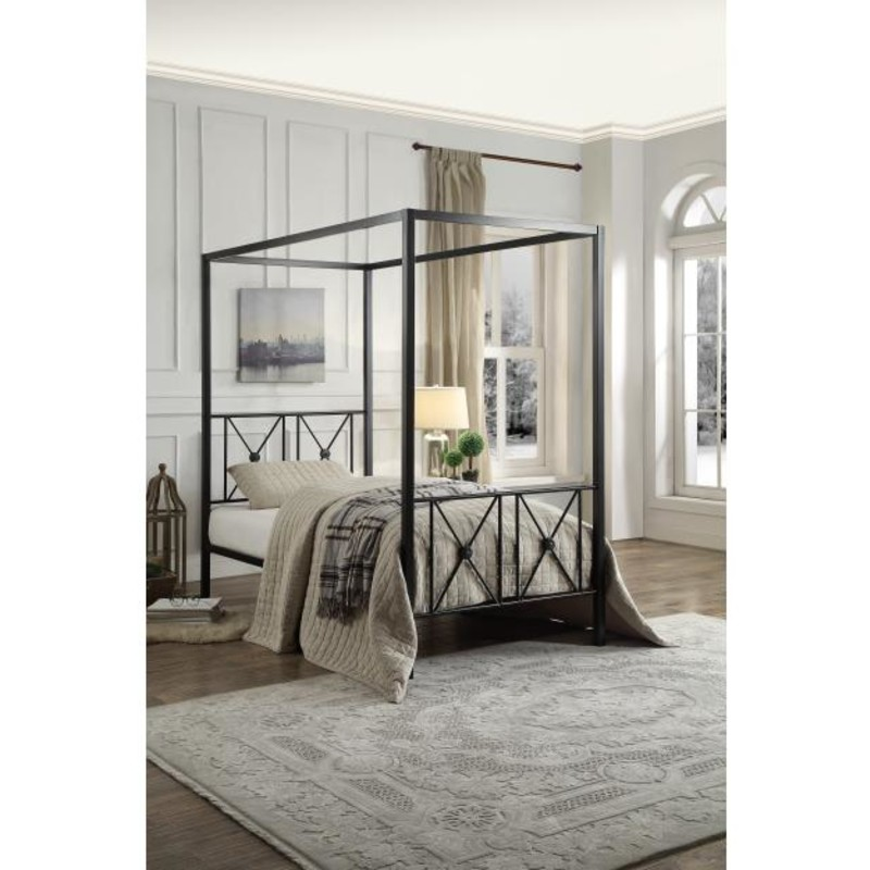Twin Canopy Bed.