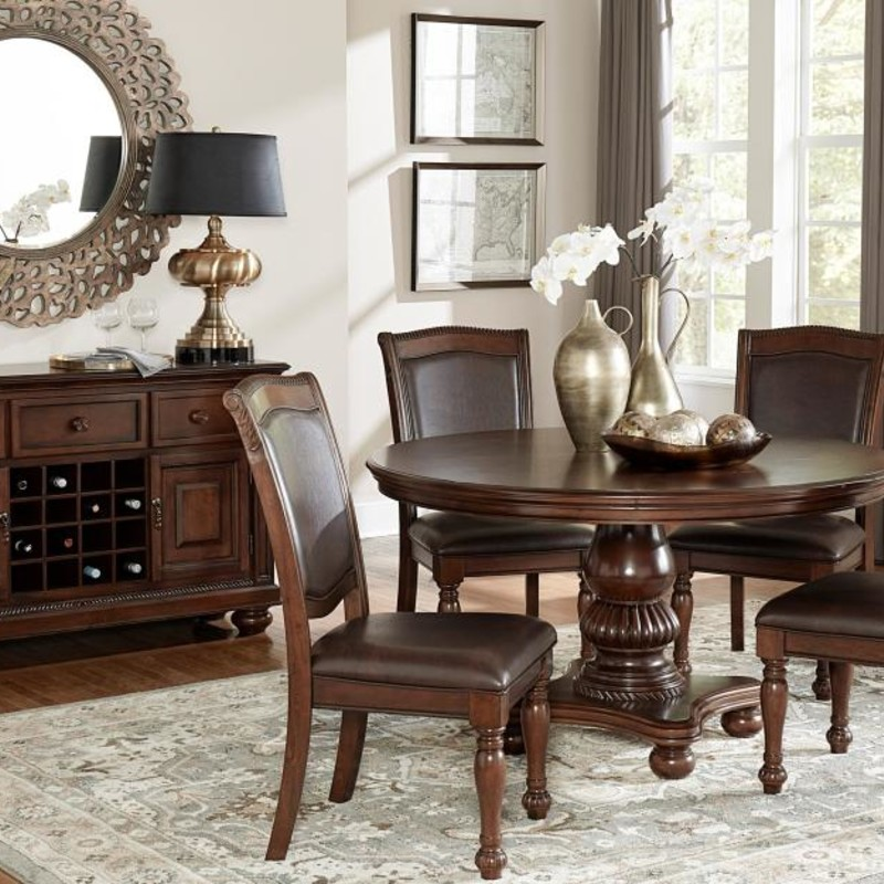Table W/ 4 Chairs, 5473-54, Size: BHHH<br /> #dining #kitchen #chair #round #new