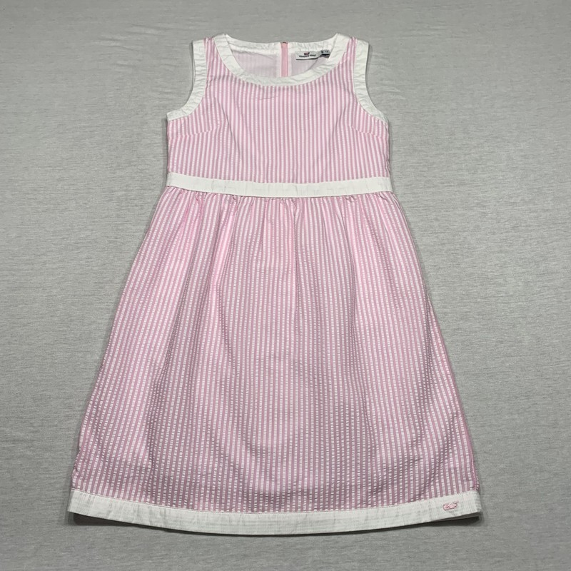 Seersucker striped dress with full lining