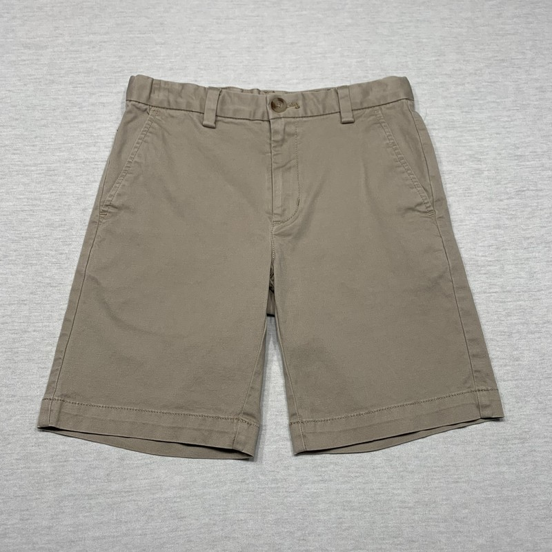 Twill shorts with front & back pockets & adjustable waist