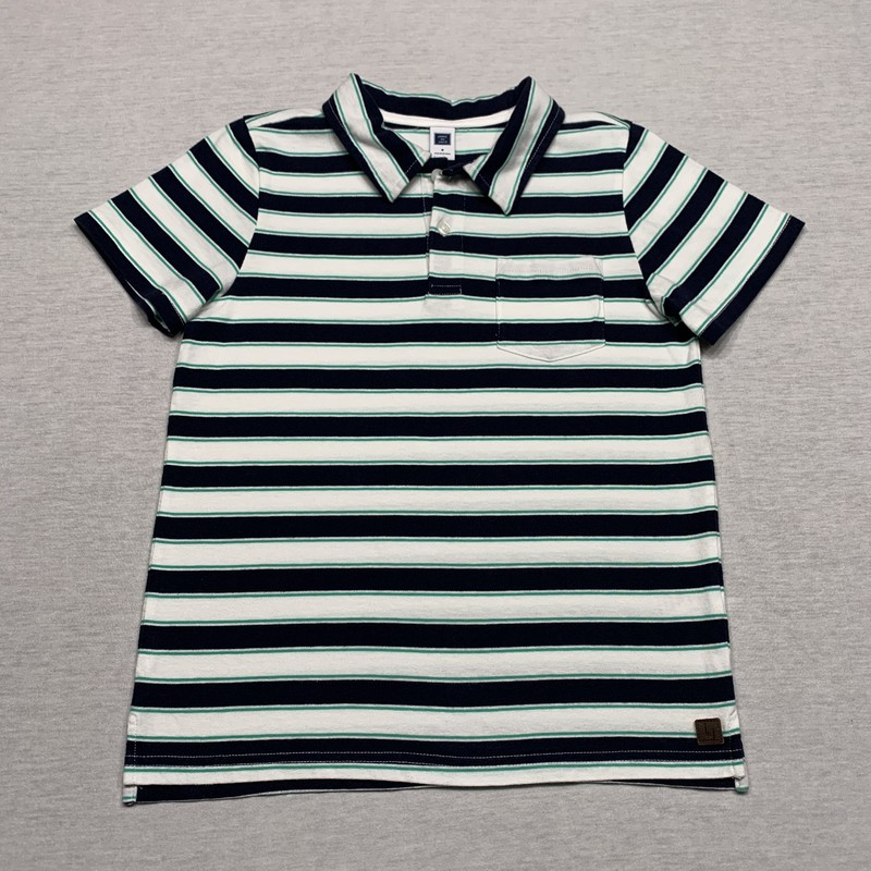 Striped pocket polo