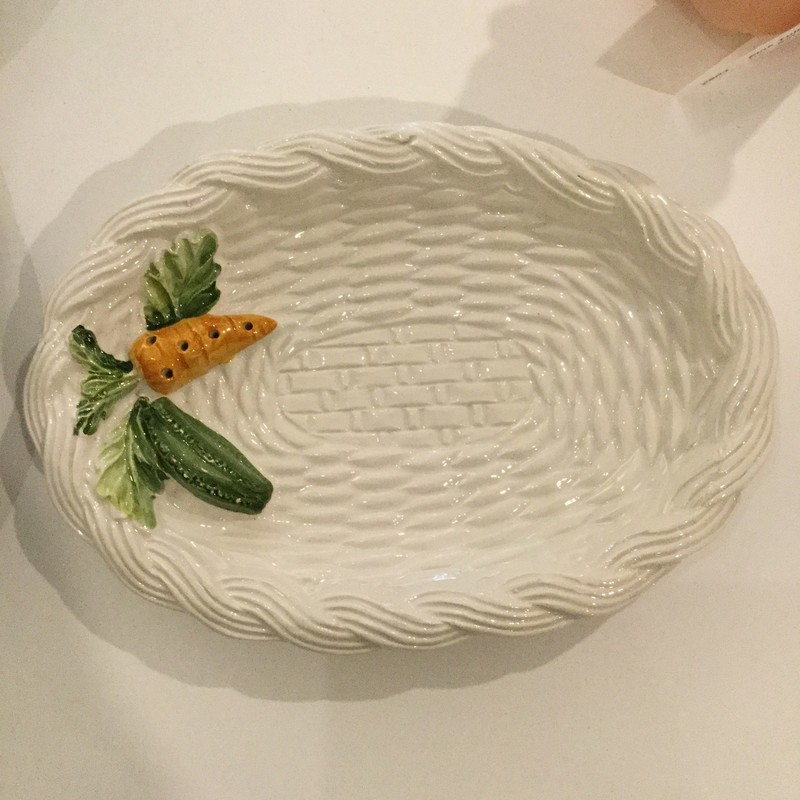 Carrot Serving Dish<br /> White Orange<br /> Original Price $8.99