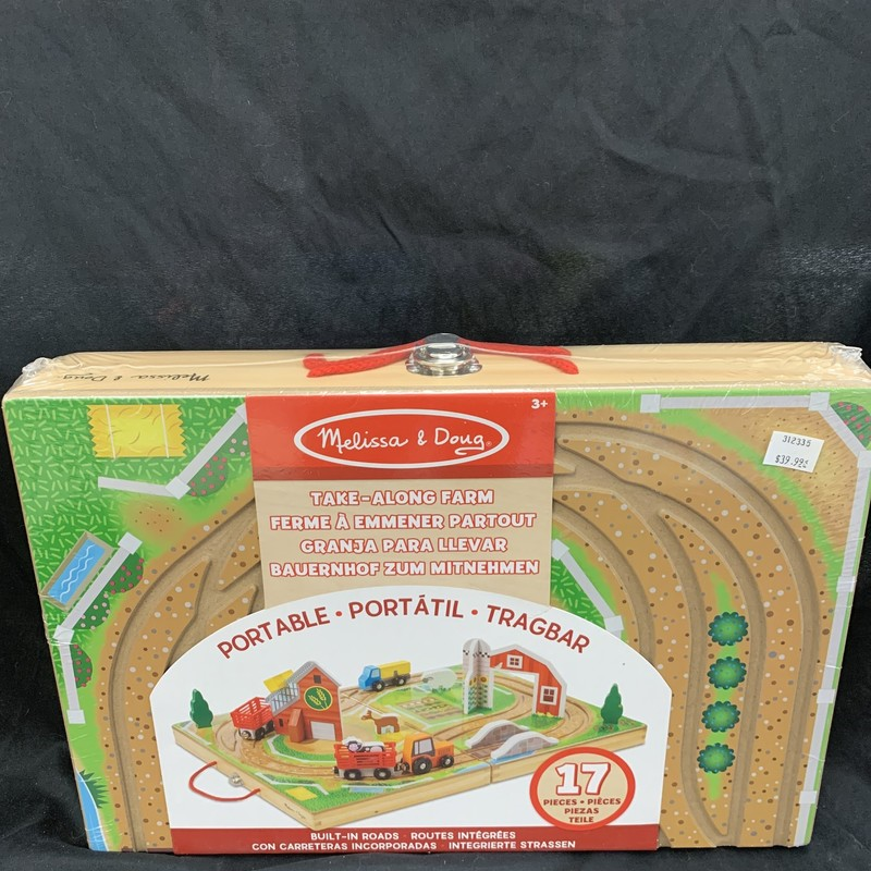 Farm And Tractor, Wood Pretend<br /> Ages 3+<br /> 33 pieces